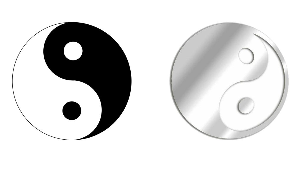Le miroir décoratif chinois yin yang