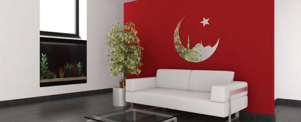 Miroir décoratif Mosquée dans la lune